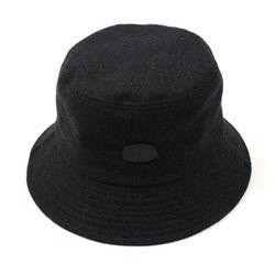 Black Metal Logo Bucket Hat GY 메탈로고버킷햇