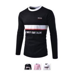 [쿨룩] 남성 크루넥 캐쥬얼 프린트 티셔츠 MZT116