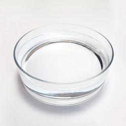 당근 투명 원형유리수반