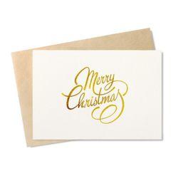 [인디고샵] [금박] 메리크리스마스 카드