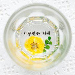 핸드메이드 압화소주잔-감국왈츠 4P