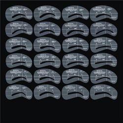 연예인 눈썹 모양 그리기 가이드 24종