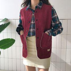 무스탕 vest (3color)