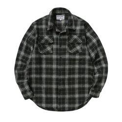 뉴해빗 - 오버핏 헤비 플란넬 체크셔츠 - 블랙