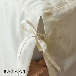 리본 광목 누빔 침대스커트(S)