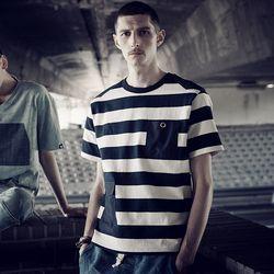 스트라이프 링 아일렛 티셔츠