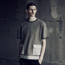 슬립 미니 쭈리 아웃 포켓 티셔츠