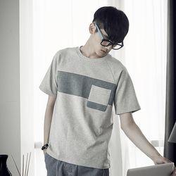 라그랑 가슴 블럭 티셔츠