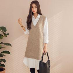 [로코식스] lambs wool knit dress원피스