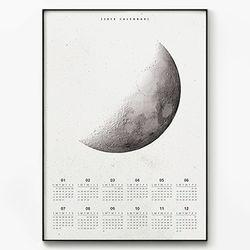 2018 달력 Quarter Moon [포스터 초대형+초대형 액자]