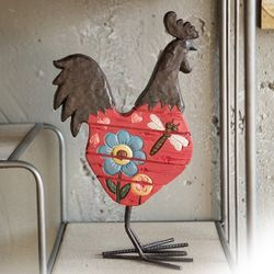 붉은꽃닭 장식품(A)