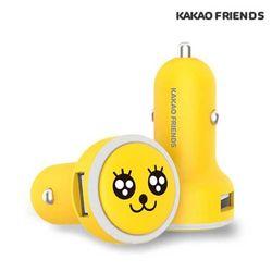 카카오 프렌즈 차량용 고속 충전기 2포트 USB 시거잭