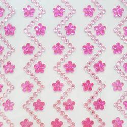 접착 크리스탈 비즈-플라워(핑크)