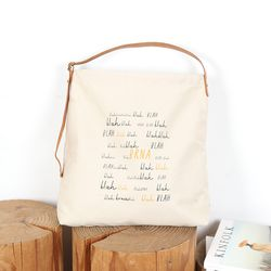 [BRNA] 패브릭 프린트 백(Sagging Bag) 블랙
