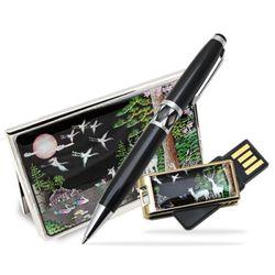 아리랑 로트자개 USB+명함케이스+자개볼펜 SET 16GB