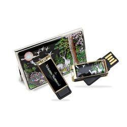 아리랑 로트2 전통자개 USB + 명함지갑 SET 32GB