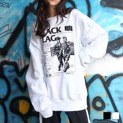 블랙 플래그 기모 맨투맨 (2colors)