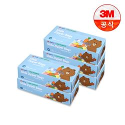 [3M]라인프렌즈 후레쉬 슬라이드 지퍼백소 5개세트
