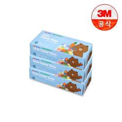 [3M]라인프렌즈 후레쉬 슬라이드 지퍼백소 3개세트