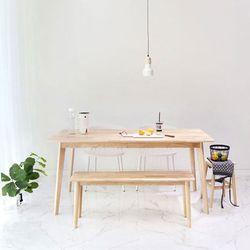 원목 러버 식탁 테이블 베이직160