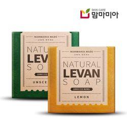 쌀겨성분 천연 레반비누 - 무향+레몬향(세트)