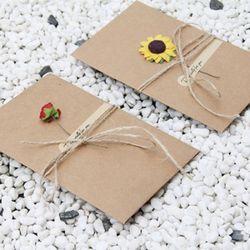 기념일 빈티지 플라워 예쁜 편지지 세트