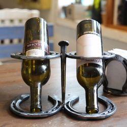 레일로드스파이크 와인홀더 카페인테리어소품 와인랙