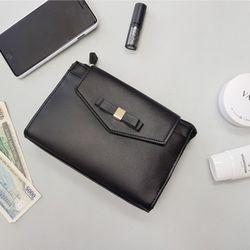 리본 포인트 클래식 스마트폰 여권 보조 가방 vol.8
