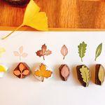 핸드메이드 스탬프  낙엽