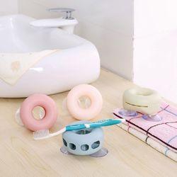 (거치대) 귀여운 도넛츠 칫솔-치약 걸이
