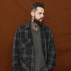 UNISEX Willy Check Jacket (CHARCOAL)