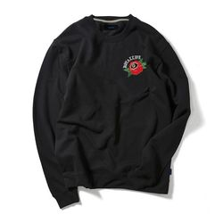 RLCN118 로즈 8 스웨트셔츠 - 블랙