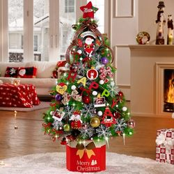 크리스마스트리 풀세트 솔트리 1.4M 로즈핑크