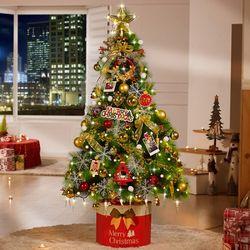 크리스마스트리 풀세트 솔트리 1.6M 골드