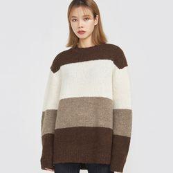 cocoa wide stripe knit