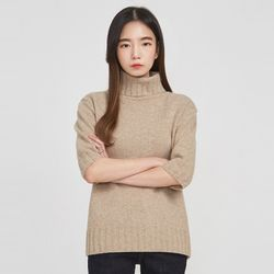 poly turtle neck wool knit