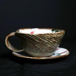 분청 고추 커피잔