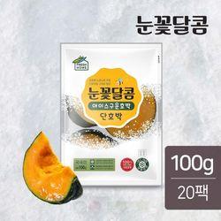 눈꽃달콤 아이스 군단호박  밤호박 100gX20팩(2kg)