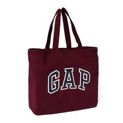 갭 GAP 아플리케 토트숄더백 가방 520451 07 버건디
