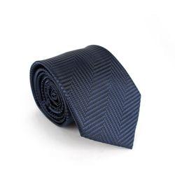 사선 패턴 수동 넥타이네이비NMM7026