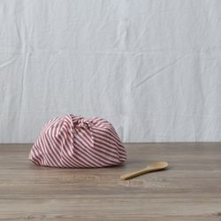 린넨 스트라이프 패브릭 버킷  L size (3color)