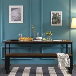 대니 멀바우 1800 카페 테이블 식탁(벤치의자1)