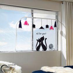 알뜨리 고급형 방풍비닐 해피캣 창문용 소