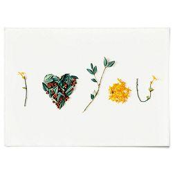 패브릭 천 포스터 F135 식물 아이 하트 유 [중형]
