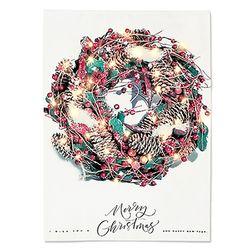 패브릭 포스터 F140 트리 크리스마스 리스 [대형]