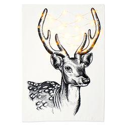 패브릭 포스터 F141 크리스마스 드로잉 사슴 [대형]