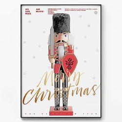 메탈 포스터 액자 크리스마스 호두까기 B [대형]