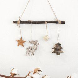 크리스마스 심플 가랜드 - 별 사슴 트리