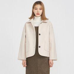 round detail collar jacket