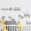 크리스마스마을 스티커 교회장식 데코스티커(B사이즈)
